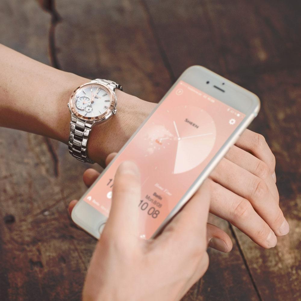 46020e3e53b5 ... Reloj Casio Shb-200Cg-9A Sheen Acero Solar 50M Bluetooth Link width